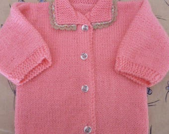 Pink baby jacket/Cardigan size 1 year