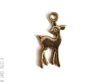 "5 charm ""Fawn"" - color gold"
