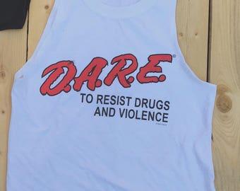 D.A.R.E cropped tank