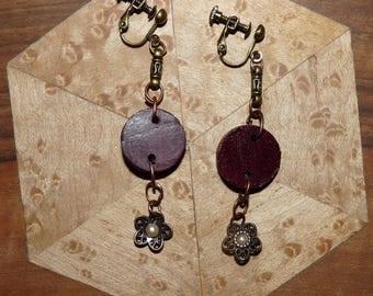 Earrings in precious wood: Vienna