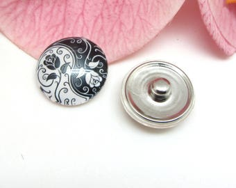 1 glass Yin Yang 1-18 mm snap