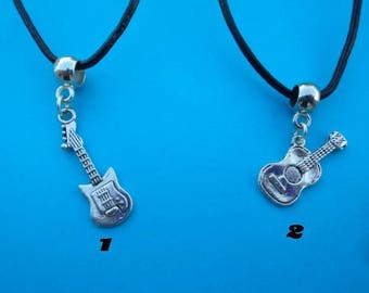 Guitar pendant with free gift pouch choice of 1