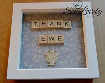 Thank Ewe Scrabble Frame