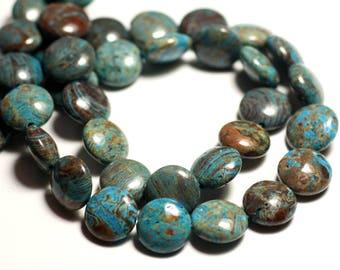 4pc - stone beads - autumn Jasper beads 12mm - 8741140015661 Turquoise Blue