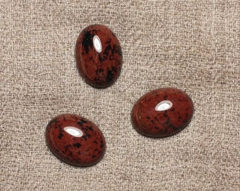 Cabochon stone - Mahogany Obsidian - oval 16 x 12mm 4558550033734