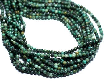 30pc - stone beads - natural African Turquoise beads 2mm - 8741140007994
