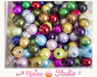 Magic 8mm mixed color beads