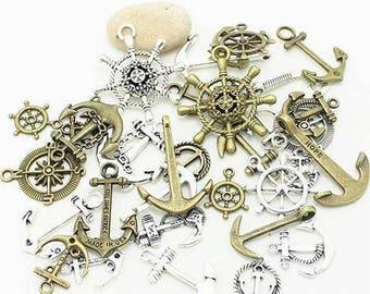 40 anchors, sailor theme charms