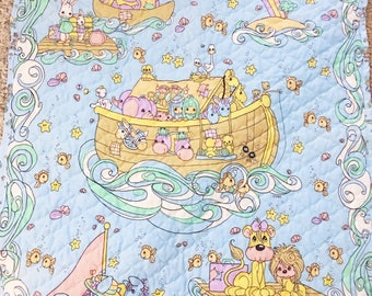 Precious Moments Noahs Ark Thin Quilted Blanket Mat