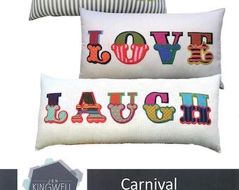 Carnival applique alphabet pattern from Jen Kingwell