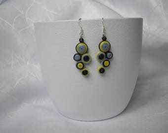 Paper earrings, modern earrings, quilling