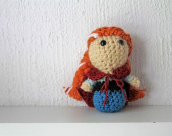 Anna Disney Princess Crochet Amigurumi Plushie Doll - Made to Order