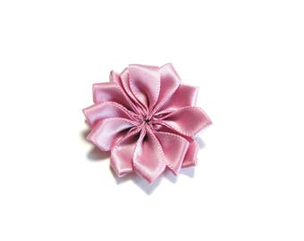 OLD ROSE colored satin fabric flower