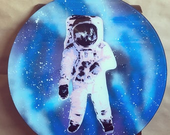 Astronaut on Glass