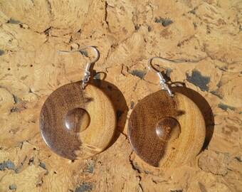 Earrings in acacia African boaca2