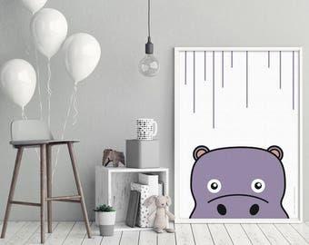 Deco poster / Poster Ghislain hippo