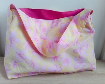 Small tote for kids - tiare flower