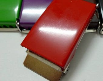 Red metal belt 25 mm loops