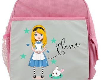 """BACKPACK CHILD """"ALICE"""" PERSONALIZED WITH CHILD'S NAME"""