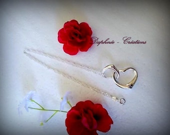 ♥♥Amour♥♥ PENDANT TOI ET MOI hearts ° ° ° ° Sterling Silver 925