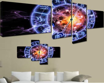modern paintings canvas 170x70 4pcs astro fire water Zodiac zodiac signs