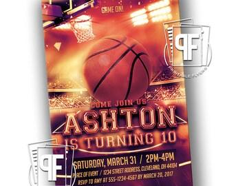 Basketball Birthday Invitations - Sports Birthday Invitations - Basketball Invitations - Basketball Birthday - Basketball Birthday Party