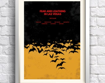 Fear and Loathing in Las Vegas - alternative, minimalist movie poster, art print, home decor