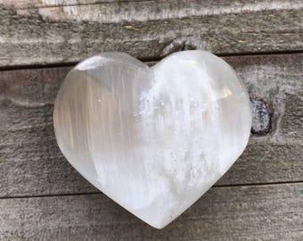 Large Puffy Selenite Heart