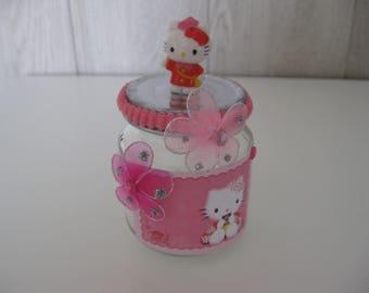 decorated glass jar