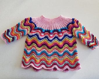 Bra-baby Cardigan, 1-3 months, colorful
