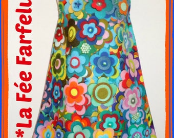 Dress pinafore POP from 2 to 10 years