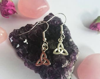 Triquetra Earrings - Silver Plated