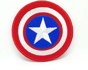 29# Captain America Shield Avengers iron/sew on embroidered patch
