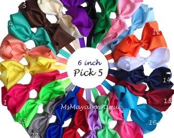 Big bow headband, baby headbands, baby bow headband, large bow baby headband, baby accessory, baby girl headband, baby birthday gift set