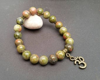 Unakite (8 mm beads) bracelet
