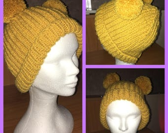 Tassels Hat hand knitted