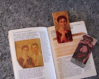 Bookmark magnetic Pompeii pattern