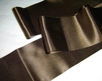LARGE glossy brown SATIN Ribbon