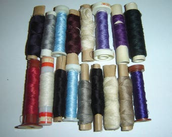 Lot vintage sewing thread