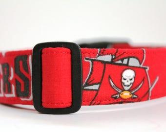 NFL Tampa Bay Bucs Collar, Bucs Dog Collar, Personalized Collar, Embroidered Dog Collar, Dog Collar, Tampa Bay Collar, NFL Dog Collar, Colla