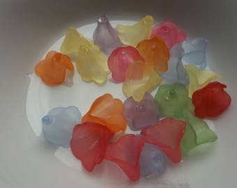 lucite acrylic 10 mm flower beads