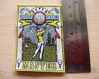 Super Golf Club Master golfer for customization applique textile patch badge 1163