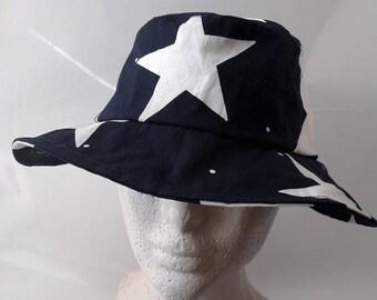 fedora Hat star fabric
