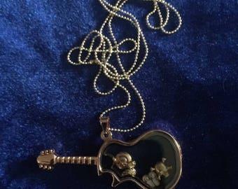 Guitar charm necklace