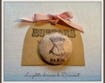 """Button 28mm fashion Vintage """"Bustier"""" collection"""