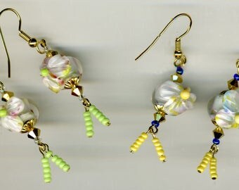 "-30% ""No. 1 - gold plated small fancies"" earrings-"