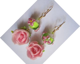 """Earrings gold plated Metal/14KT gold """"for a sweet MOM"""""""