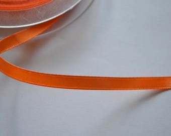 6 mm shiny bright orange satin ribbon