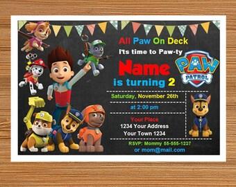 Paw Patrol Invitation, Paw Patrol Birthday Invitation, Paw Patrol Microsoft Word, Microsoft Word Invite,  Microsoft Word file, Word Template