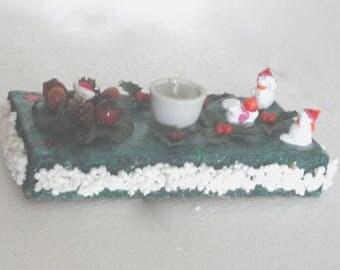 Christmas centerpiece, candle decor